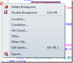 "SQL Server ""Denali"" breakpoint"