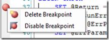 SQL Server 2008 (2008 R2) breakpoint